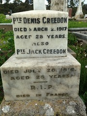 Creedon memorial, St Joseph's Cemetery, Willunga, 2016