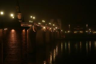 Alte Brücke im Nebel, Heidelberg