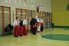 Володимир Пилат вітає учасників змагань  з Бойового Гопака