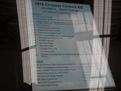 1976 Chrysler KB Centura GL Sports Pack sedan