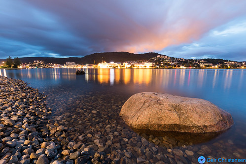 water norway stone river evening outdoor riverbed drammen
