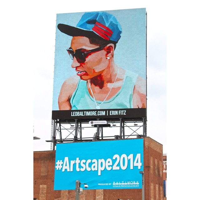 Finally got to see it in person! Crazy to see my work so big! #ledbaltimore #erinfitzpatrick #erinfitzpatrickportraits