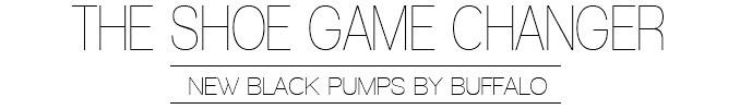 Buffalo Black Pumps