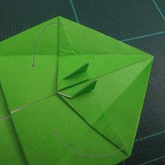 การพับกระดาษเป็นรูปแรด (Origami Rhino) 023