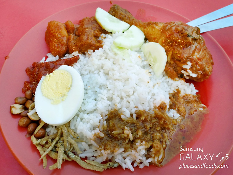 nasi lemak peel road chicken rendang