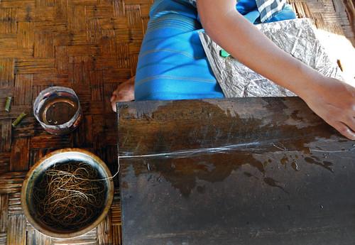 The Weaving Village on Inle Lake, Myanmar: Processing the Lotus Threads