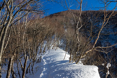 黒檜山へ・・・雪庇