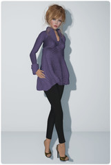 DC92 - Graffitiwear - Orchid Snuggly Sweater & Loordes of London - Vermallion Slingbacks #1