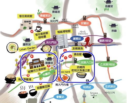 市廳站地圖