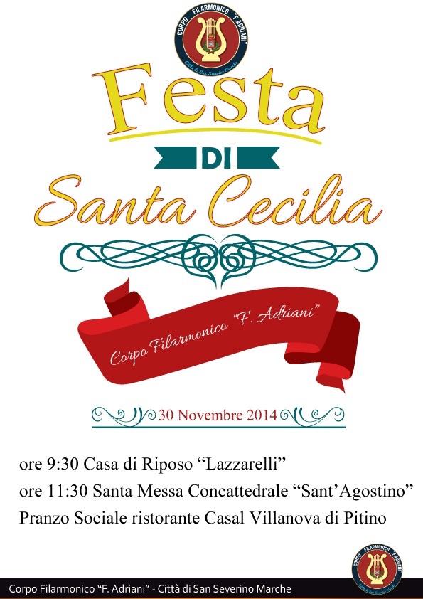 Volantino Festa Santa Cecilia 30 Novembre 2014