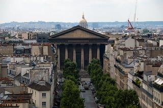 Vue sur l'Eglise de la Madeleine depuis la terrasse des Magasins du Printemps