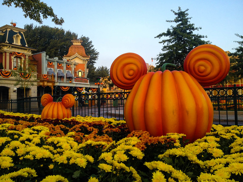 Mickey Pumpkins in Town Square