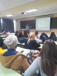 Sesión sobre portafolios de diseño por Salva Cerdá en #tipo1415 (diciembre de 2014. Facultad CC.CC. Periodismo UMA, 2014/15)
