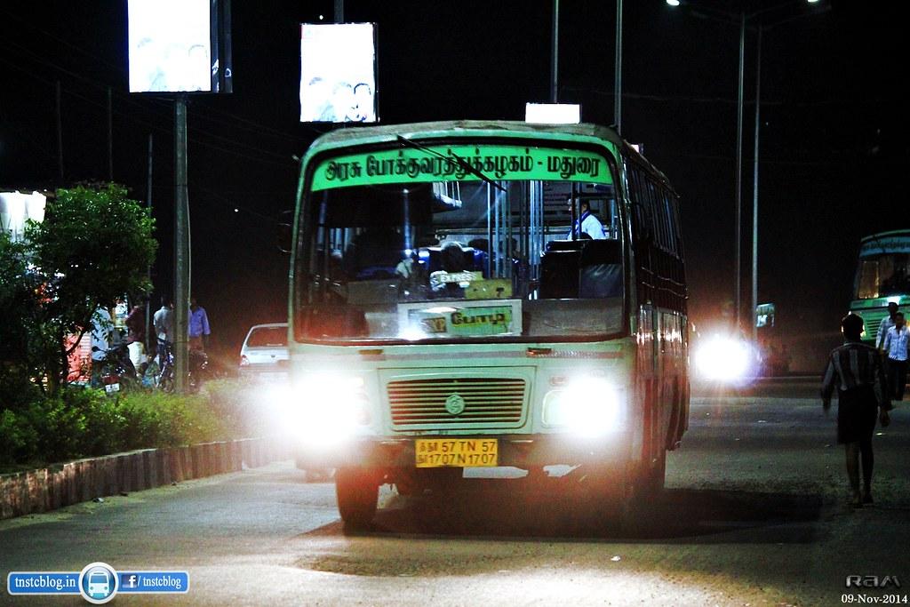TN57 N 1707 DGL/Bodi Bpdi - Theni/Madurai