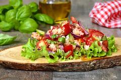 Traditional italian rustic salad panzanella.