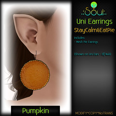 2014 UniEarrings StayCalm&EatPie - Pumpkin