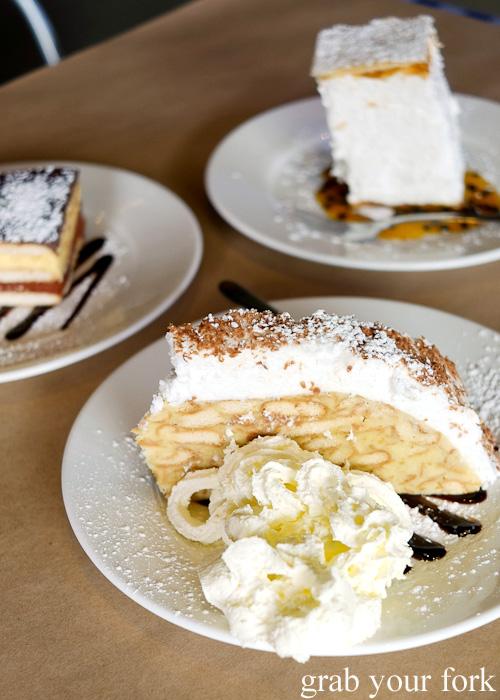 Serbian plazma keks torta dessert at Madera Kafe, Warwick Farm