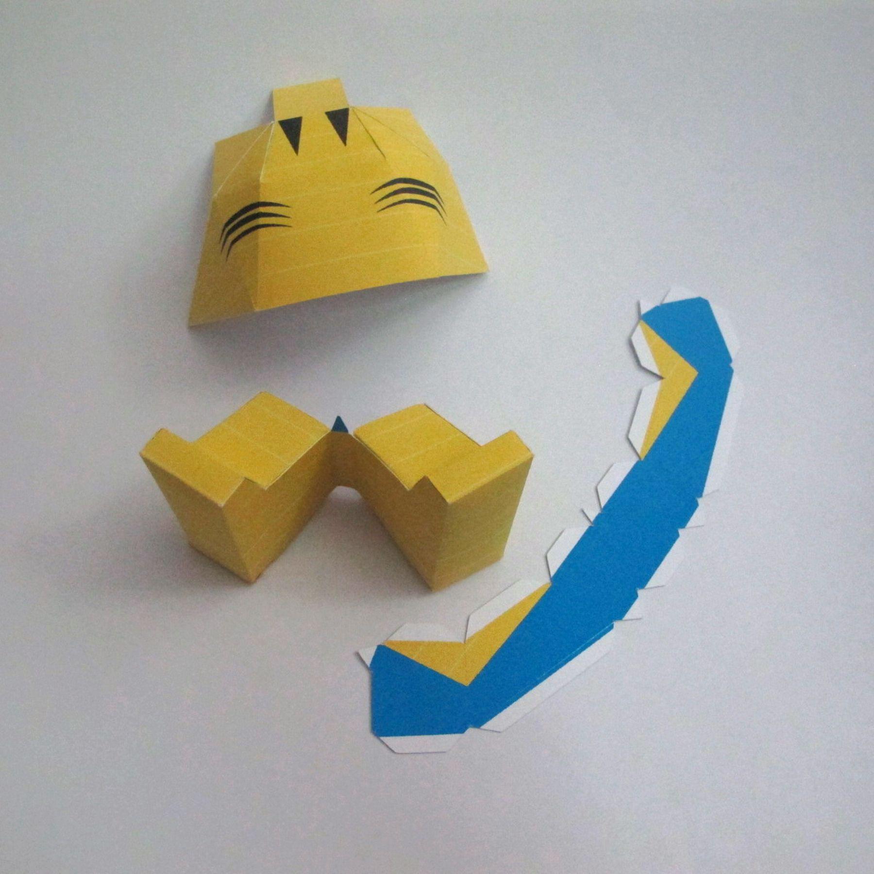 วิธีทำของเล่นโมเดลกระดาษ วูฟเวอรีน (Chibi Wolverine Papercraft Model) 027