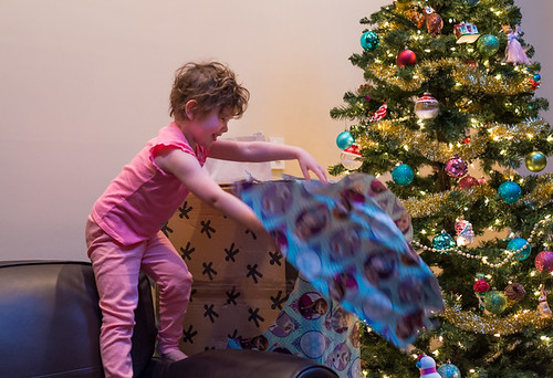 Soleil Opening the Big Package by Geoff Livingston