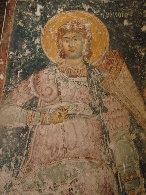 Warrior Saint fresco, Pavlica Monastery, 14th century