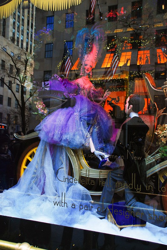Saks fifth avenue NYC, Christmas window displays, Cinderella fairy tale