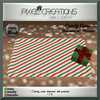 [PC] PIXEL CREATIONS - CANDY CANE DOORMAT W/PRESENT