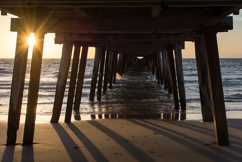 sunset shadow beach water pier nikon afternoon au perspective australia adelaide backlit sa southaustralia lateafternoon henleybeach d7100 henleyjetty