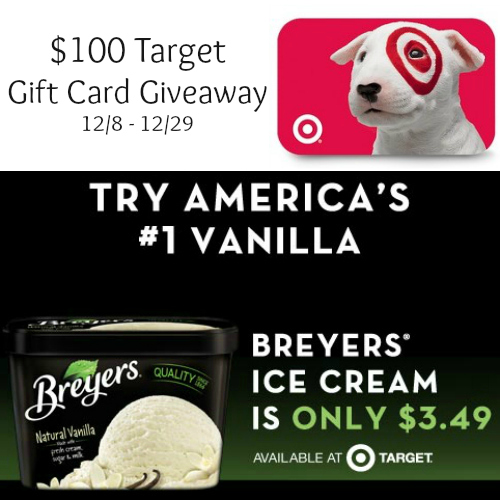 Breyers $100 Target GC Giveaway