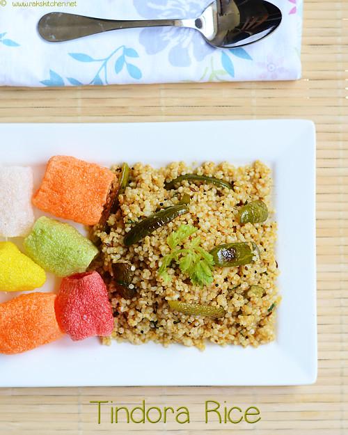 tindora-rice-recipe