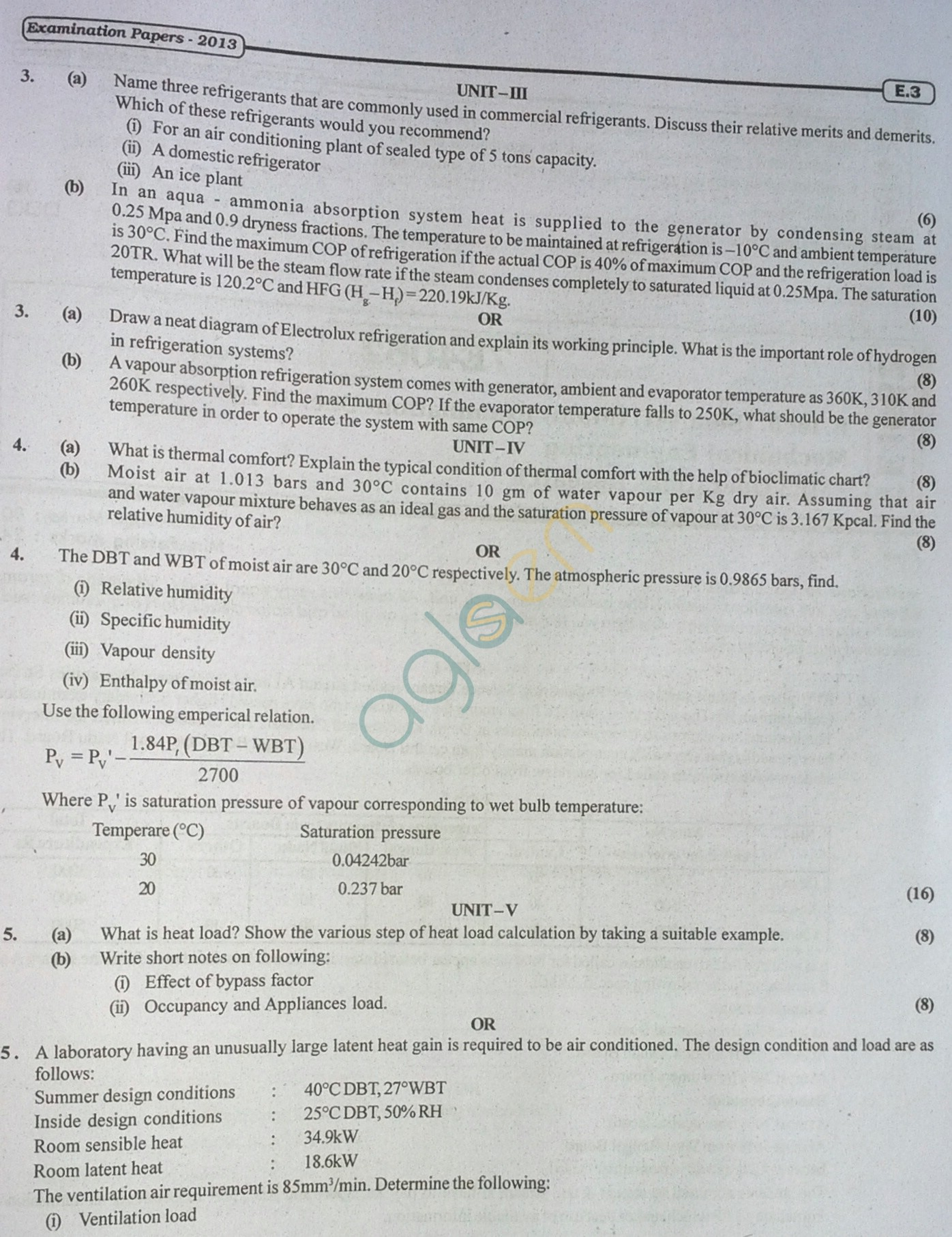 RTU: Question Papers 2013 - 7 Semester - ME - 7E4061