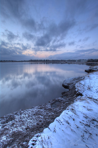 sunset snow water river bay newjersey unitedstates nj hdr bassriver 2015 tuckerton newgretna bassrivertownship