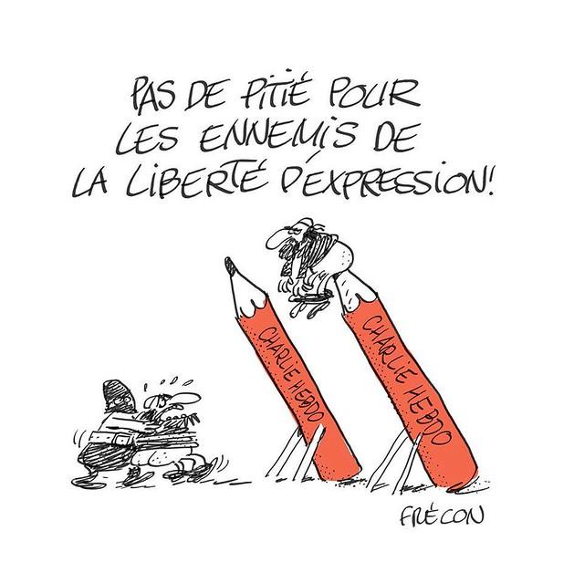 Nous sommes Charlie, par Sylvain Frécon - Les étudiants du CESAN rendent hommage