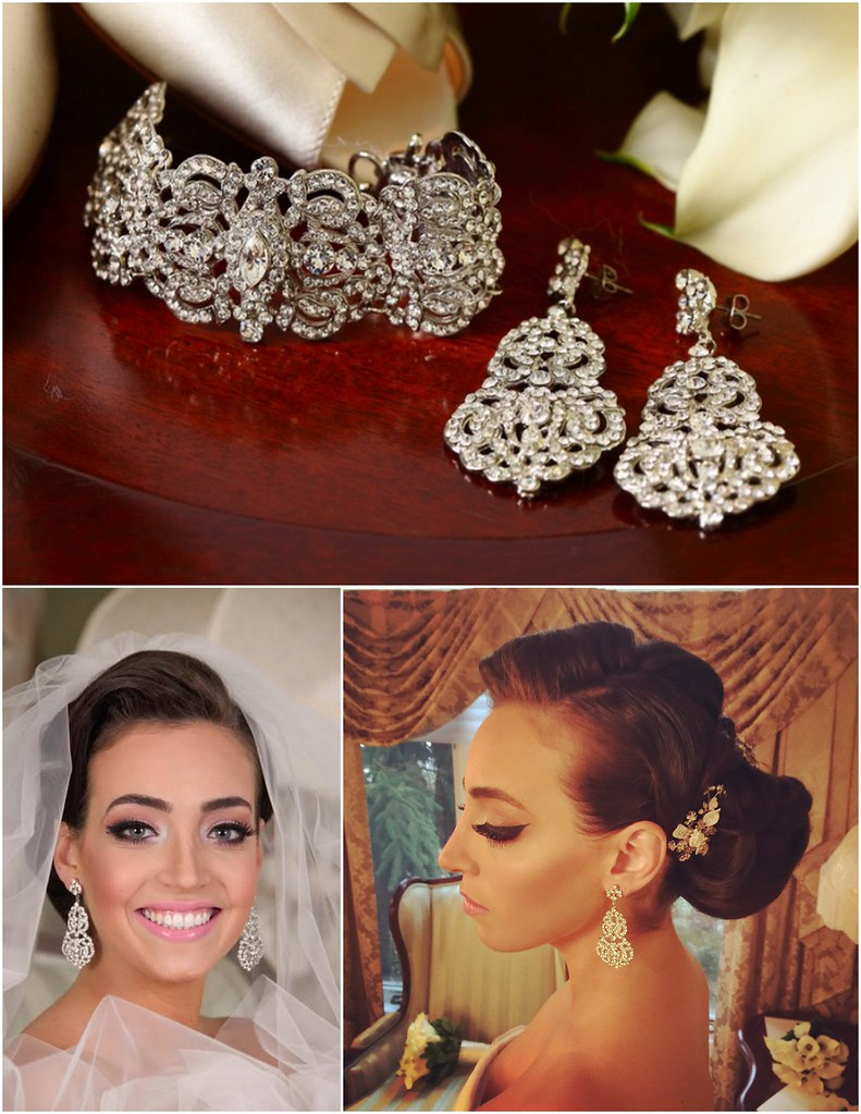 Bianca, combs, earrings and bracelet - Bridal Styles Boutique