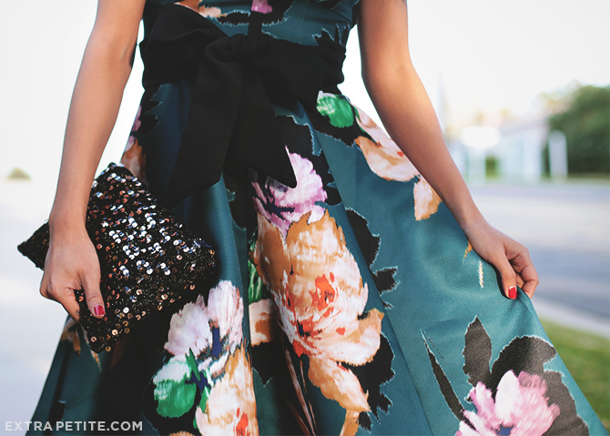 anthropologie petites floral dress 2