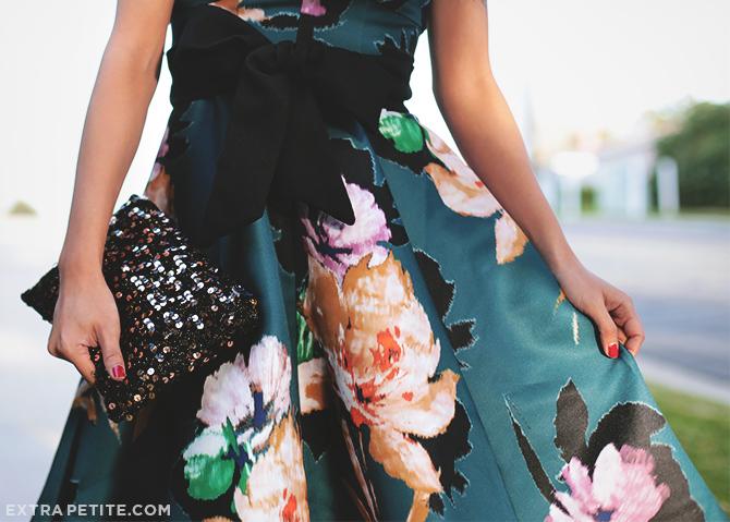 anthropologie petites floral dress 2