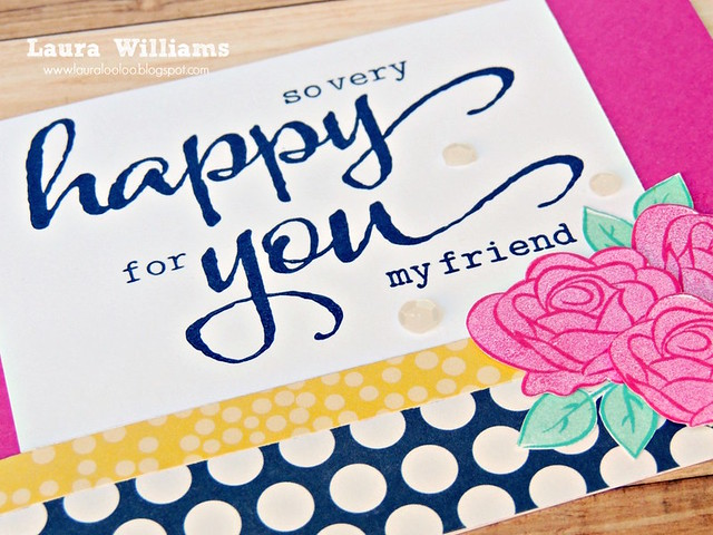 laura williams winnie and walter so very happy for you card closeup 1