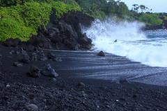 Volcanic Black Sand Beach Todays Two Photos Of Maui Favor Flickr