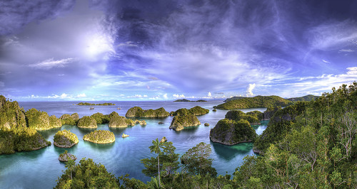 panorama indonesia islands paradise dusk tropical vista fam liveaboard rajaampat coraltriangle penemu dewinusantara