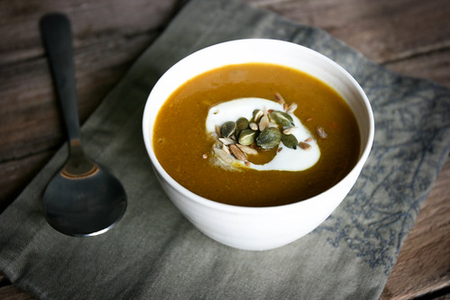 Spiced Pumpkin Soup with Homemade Curry Powder