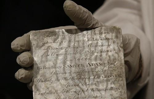 Boston time capsule silver plate