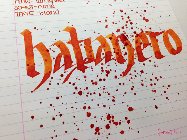 Review: Noodler's Habanero Ink @CarolLuxury