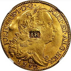 Lot 9 Joseph Richardson regulated Brazilian 1752 Rio 6400 reis obverse
