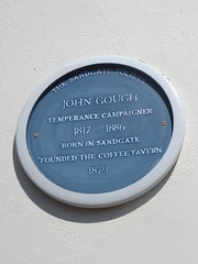 Photo of John Gough blue plaque