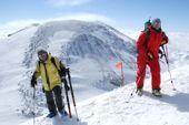 Kaukasus, Elbrus-Trekking. Blick auf den Elbrus-Ostgipfel, 5621 m. Foto: Günther Härter.