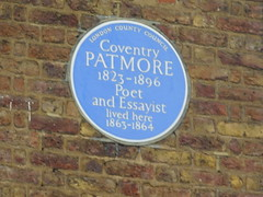 Photo of Coventry Patmore blue plaque