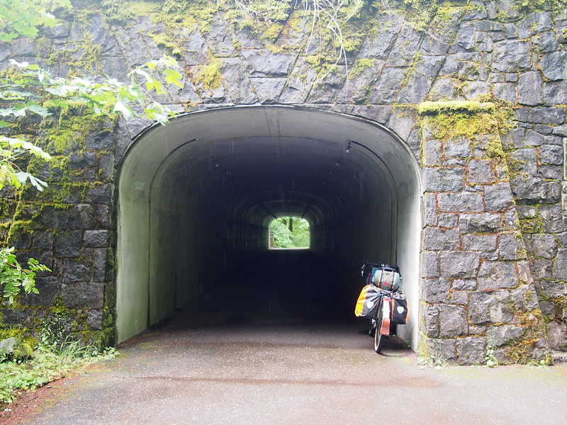 Historic Columbia River Highway State Trail: Under I-84