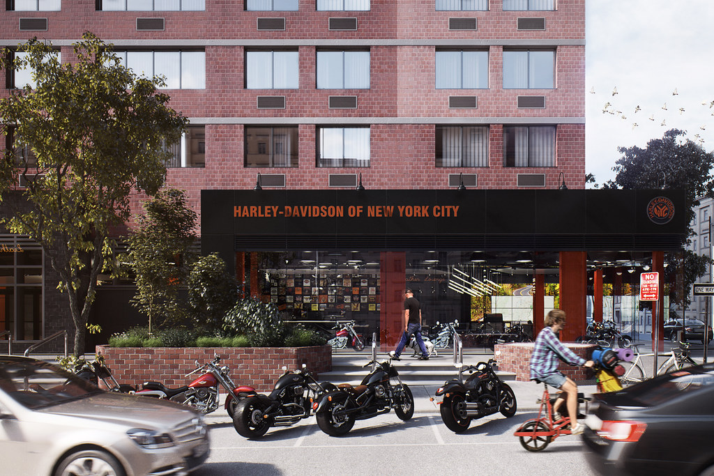 harley-davidson of new york city - architectural visualization