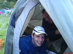 Chris & Kev in their tent Image