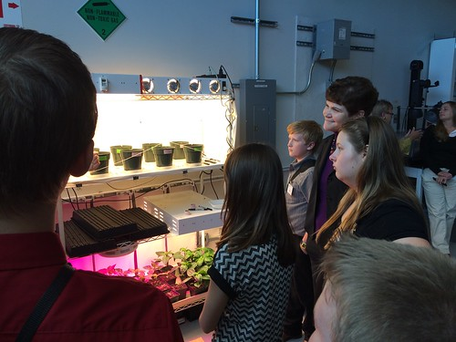 Deputy Secretary Harden and 4-H'ers observe plant growing experiments at the NASA Space Life Science Center, Cape Canaveral, Florida.