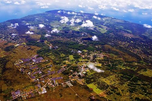 volcano pahoa aerialphoto kilauea lavaflow puuoo hawaiibigisland june27thlavaflow